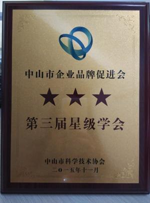 """中山市企业品牌促进会荣获""""三星级学会""""称号"""